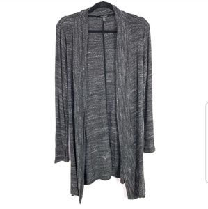 Laila Jayde Womens Cardigan Size M Gray Open Front